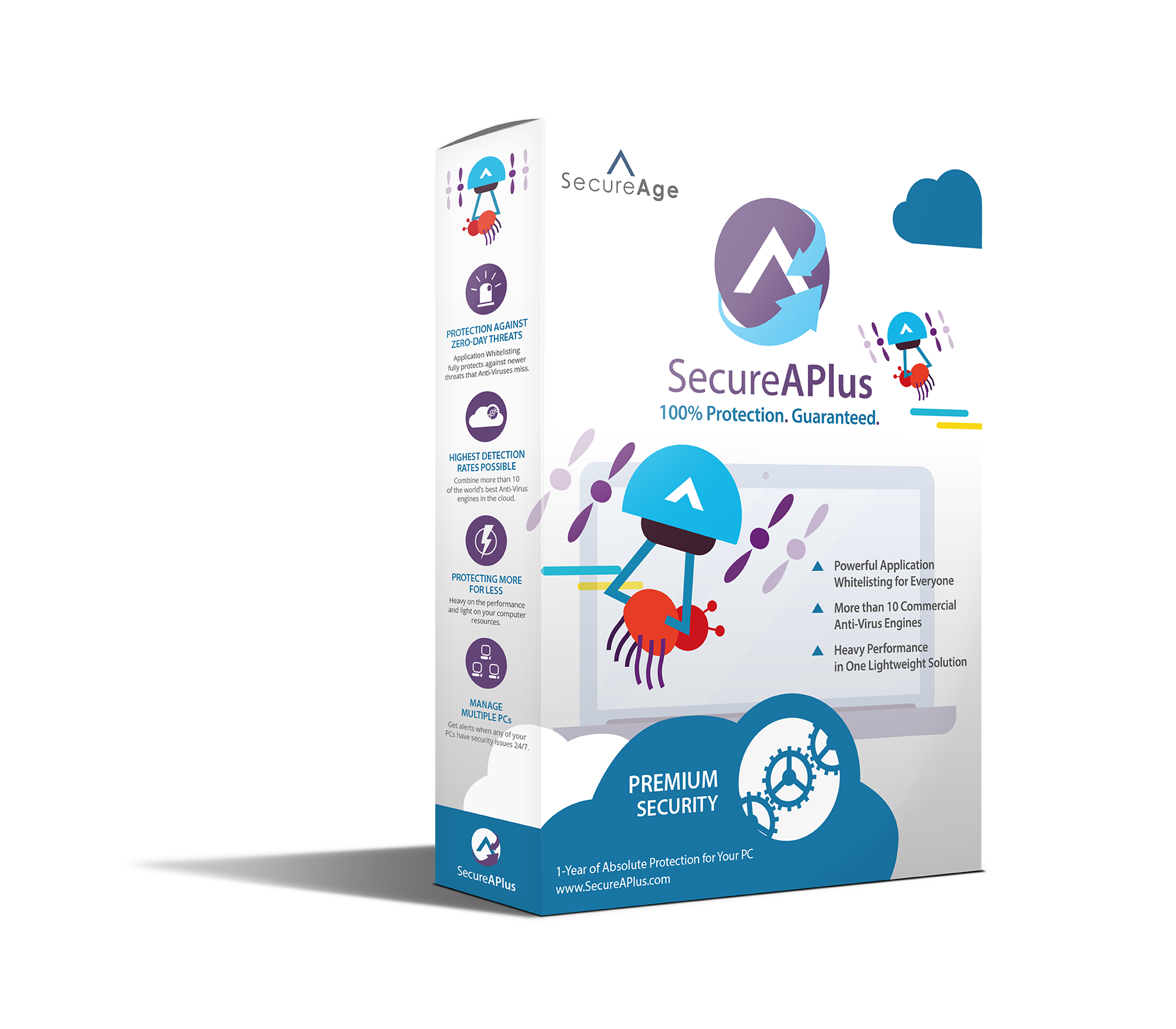SecureAPlus Premium Box Front