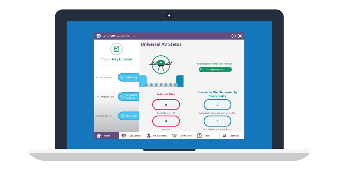 SecureAPlus-Universal-AV-Status