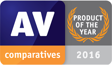 Avira 2016 Product of the Year AV Comparatives
