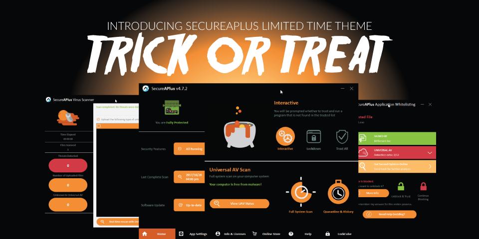 Halloween Antivirus Theme for SecureAPlus