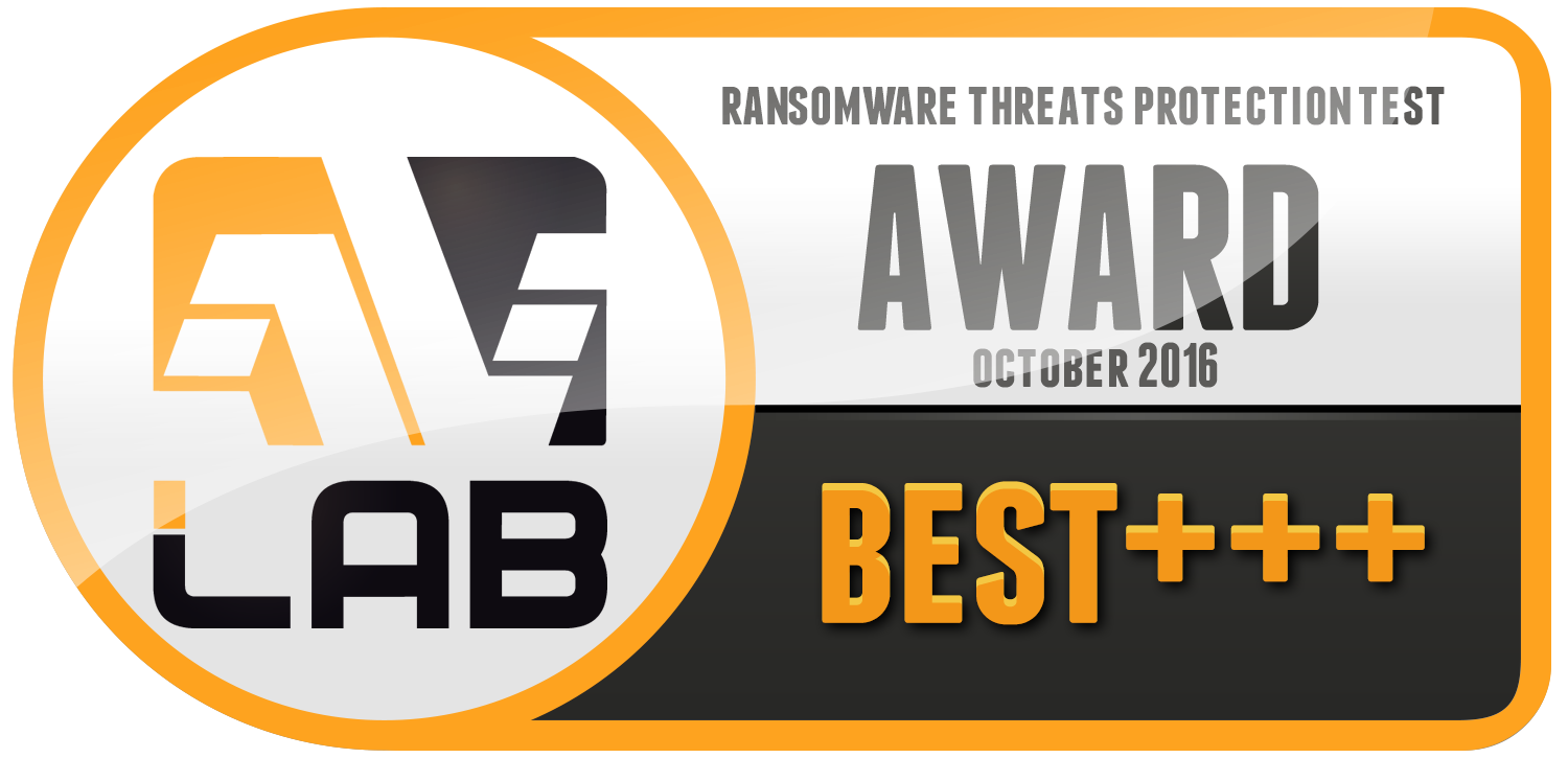 AVLab Ransomware Protection Award